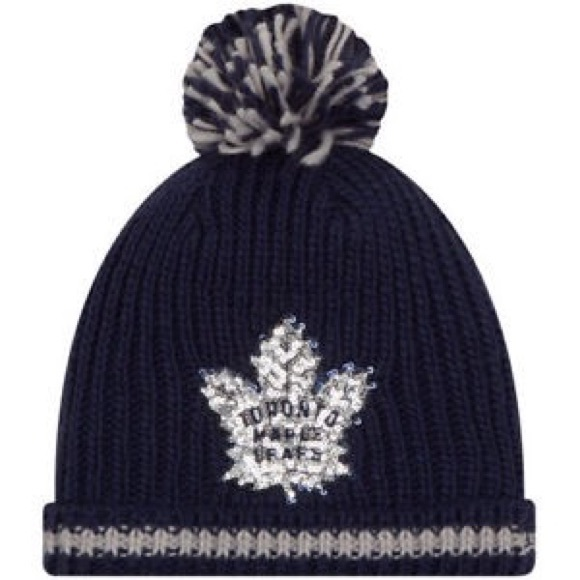 New Winter Hat Toronto Maple Leafs New Era Sequin 61c3edd72f3